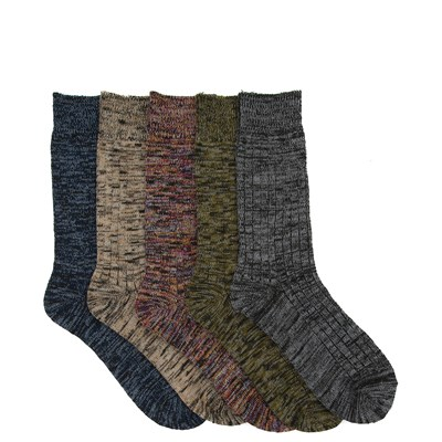Main view of Mens Boot Crew Socks 5 Pack