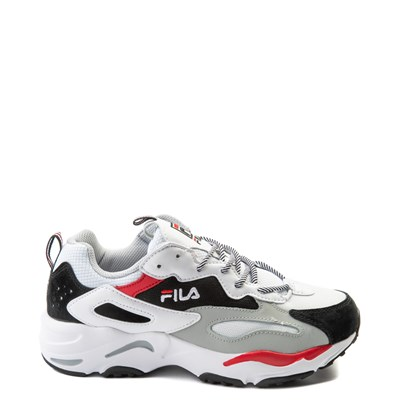 Main view of Mens Fila Ray Tracer Athletic Shoe - White / Black / Red