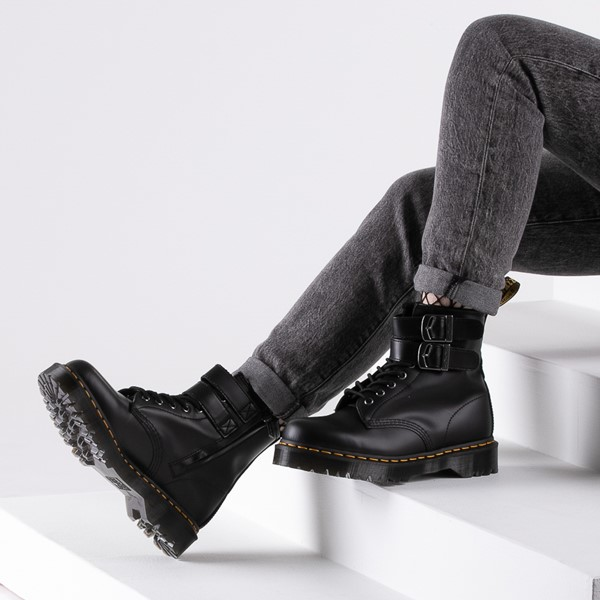 alternate image alternate view Womens Dr. Martens 1460 8-Eye Bex Buckle BootB-LIFESTYLE1