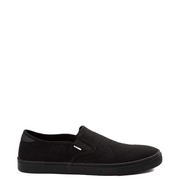 Main view of Mens TOMS Baja Slip On Casual Shoe - Black