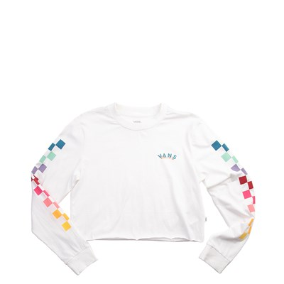 Main view of Womens Vans Chex Cropped Long Sleeve Tee