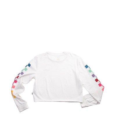Alternate view of Womens Vans Chex Cropped Long Sleeve Tee