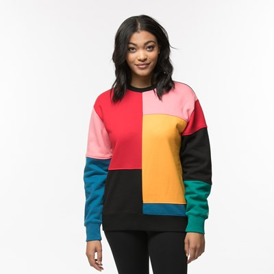 Main view of Womens Vans Patchy Crew Sweatshirt