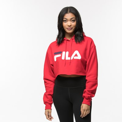 Main view of Womens Fila Cropped Hoodie