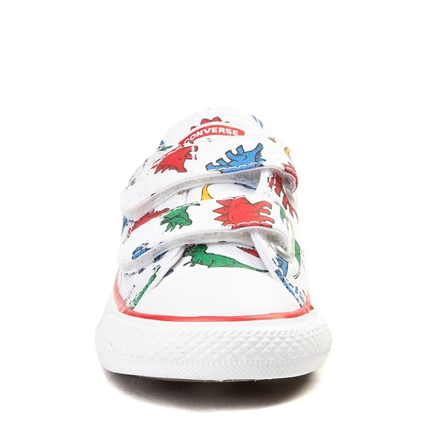 alternate image alternate view Converse Chuck Taylor All Star 2V Dinos Lo Sneaker - Baby / Toddler - WhiteALT4