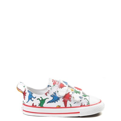 Main view of Converse Chuck Taylor All Star 2V Dinos Lo Sneaker - Baby / Toddler - White