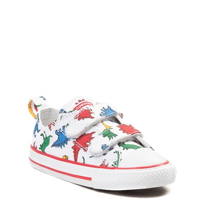 Alternate view of Converse Chuck Taylor All Star 2V Dinos Lo Sneaker - Baby / Toddler - White