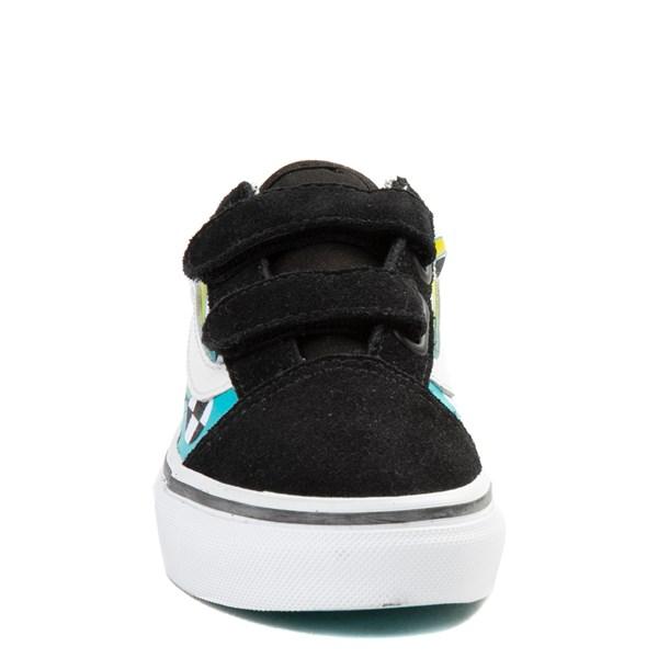 alternate image alternate view Vans Old Skool V Chex Glow Flame Skate Shoe - Little Kid / Big KidALT4