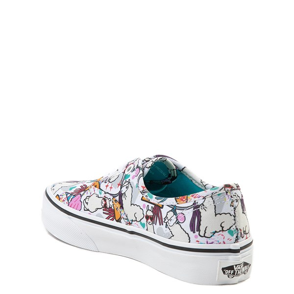 alternate image alternate view Vans Authentic Llama Party Skate Shoe - Little Kid / Big KidALT2