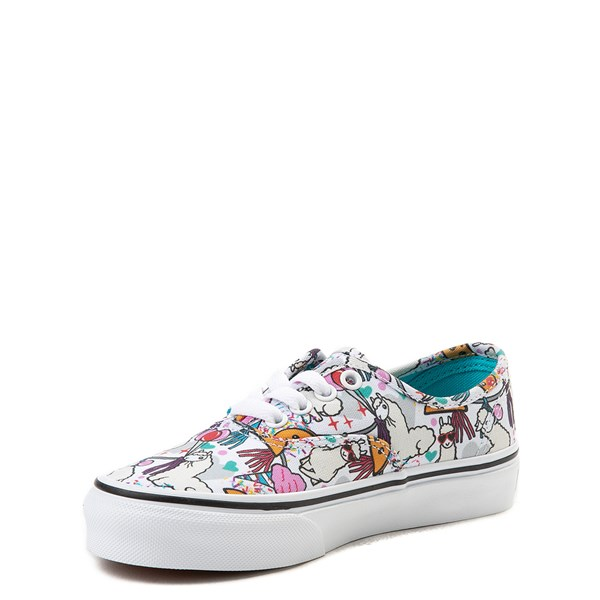 alternate image alternate view Vans Authentic Llama Party Skate Shoe - Little Kid / Big KidALT3