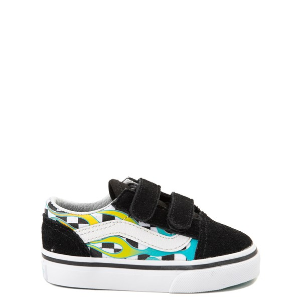 Vans Old Skool V Chex Glow Flame Skate Shoe - Baby / Toddler