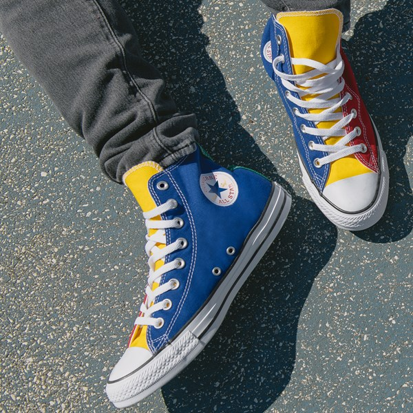 alternate image alternate view Converse Chuck Taylor All Star Hi Color-Block SneakerB-LIFESTYLE1