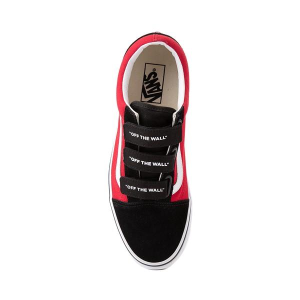 alternate image alternate view Vans Old Skool V Logo Pop Skate Shoe - Red / BlackALT2