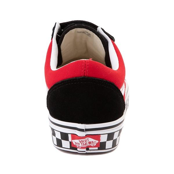 alternate image alternate view Vans Old Skool V Logo Pop Skate Shoe - Red / BlackALT3