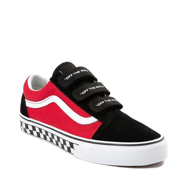 alternate image alternate view Vans Old Skool V Logo Pop Skate Shoe - Red / BlackALT5