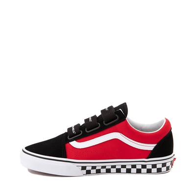 Alternate view of Vans Old Skool V Logo Pop Skate Shoe - Red / Black