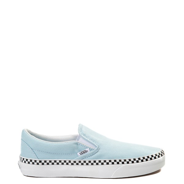 Main view of Vans Slip On Checkerboard Skate Shoe - Cool Blue
