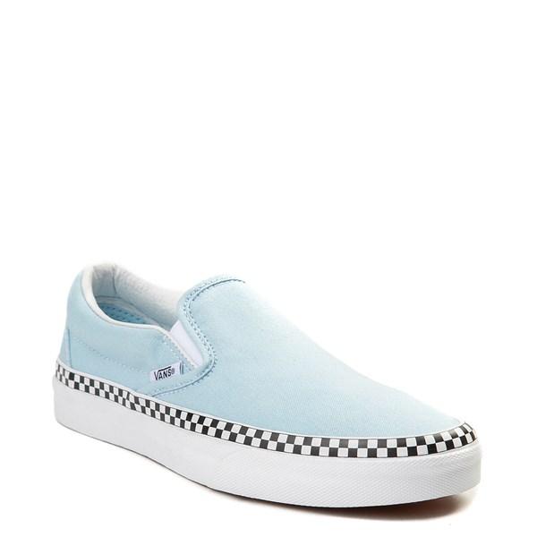 alternate image alternate view Vans Slip On Checkerboard Skate Shoe - Cool BlueALT1