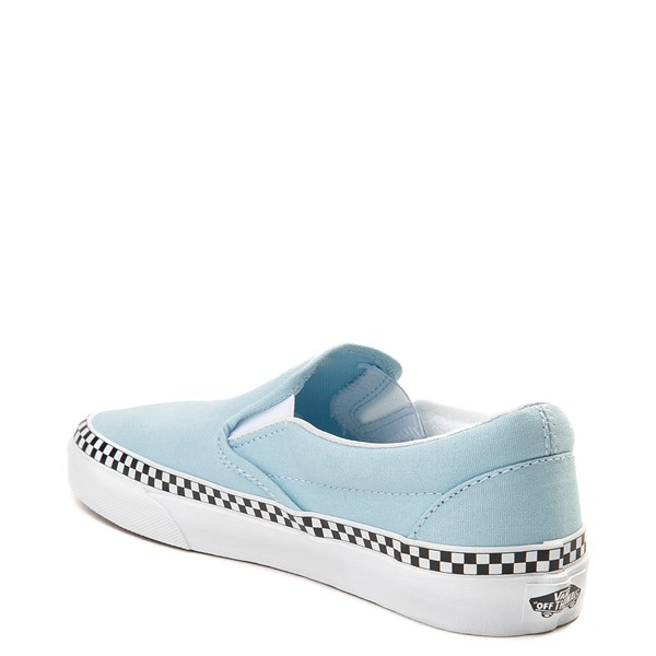 alternate image alternate view Vans Slip On Checkerboard Skate Shoe - Cool BlueALT2