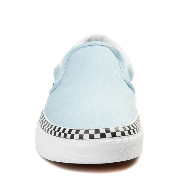 alternate image alternate view Vans Slip On Checkerboard Skate Shoe - Cool BlueALT4