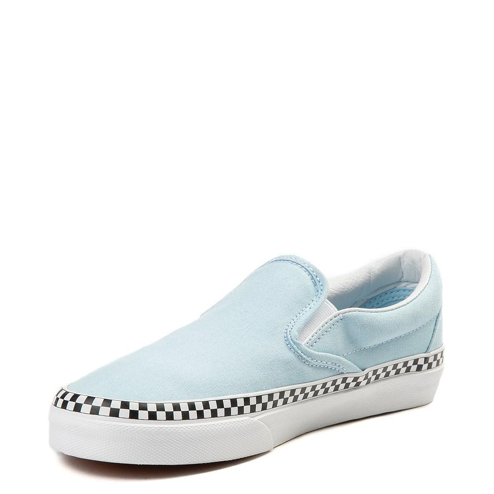 vans slip on chex skate shoe cool blue