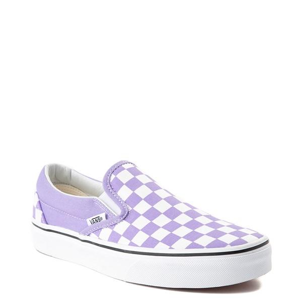 alternate view Vans Slip On Checkerboard Skate Shoe - Violet TulipALT5