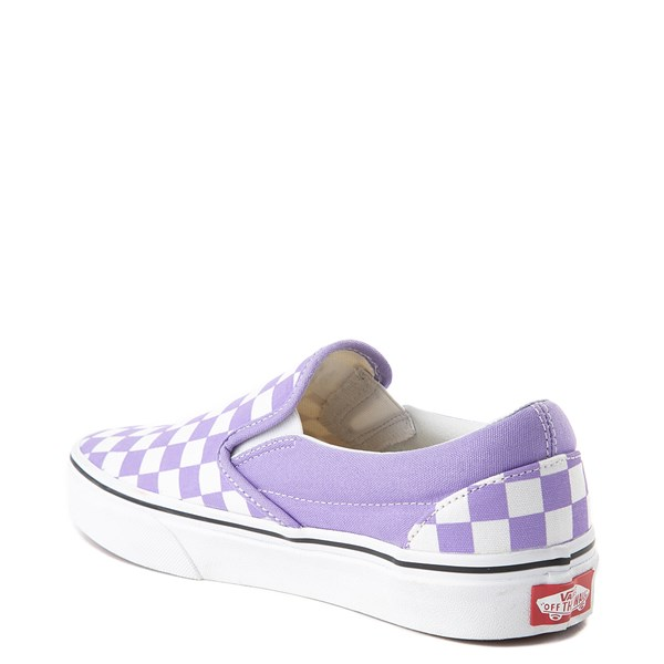 alternate image alternate view Vans Slip On Checkerboard Skate Shoe - Violet TulipALT2