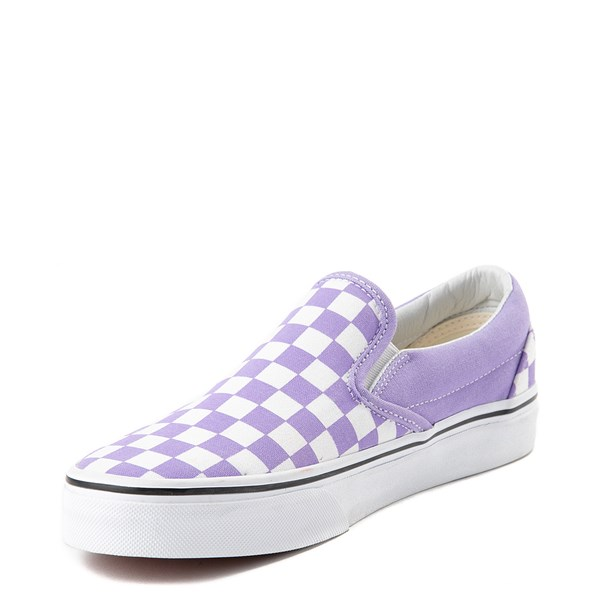 alternate image alternate view Vans Slip On Checkerboard Skate Shoe - Violet TulipALT3