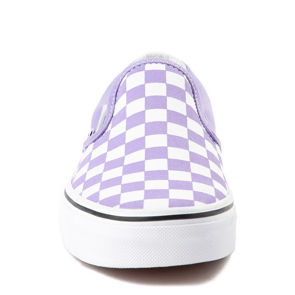 alternate image alternate view Vans Slip On Checkerboard Skate Shoe - Violet TulipALT4