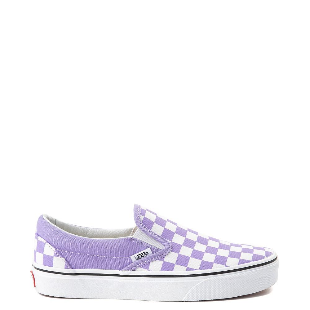 Vans Slip On Checkerboard Skate Shoe - Violet Tulip