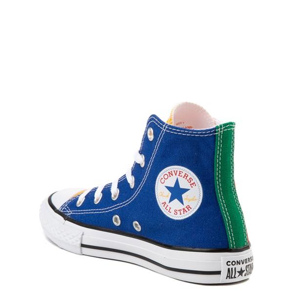 alternate image alternate view Converse Chuck Taylor All Star Hi Color-Block Sneaker - Little Kid - MulticolorALT2