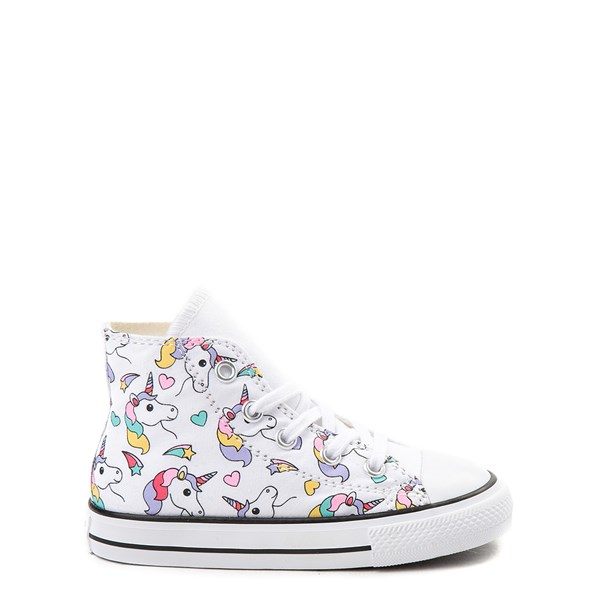 Converse Chuck Taylor All Star Unicorn Rainbow Hi Sneaker - Baby / Toddler - White / Multi