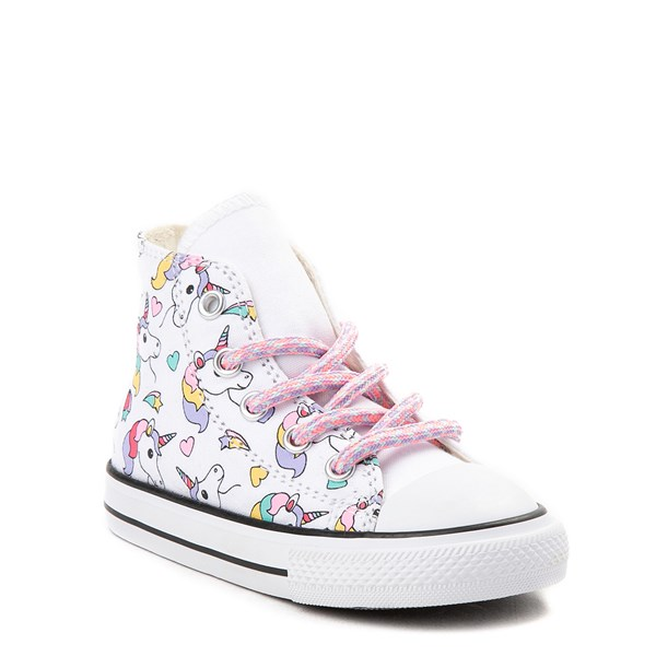 alternate image alternate view Converse Chuck Taylor All Star Unicorn Rainbow Hi Sneaker - Baby / ToddlerALT6