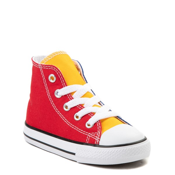 alternate image alternate view Converse Chuck Taylor All Star Hi Color-Block Sneaker - Baby / ToddlerALT1B