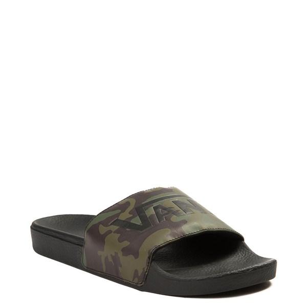 alternate image alternate view Mens Vans Slide On Camo SandalALT1