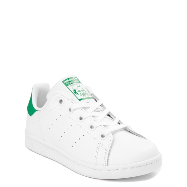 alternate image alternate view adidas Stan Smith Athletic Shoe - Little Kid - White / GreenALT1