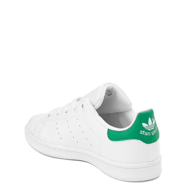 alternate image alternate view adidas Stan Smith Athletic Shoe - Little Kid - White / GreenALT2