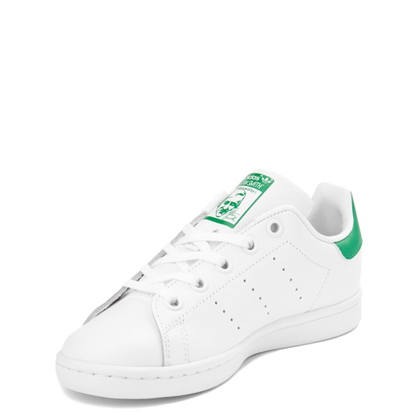 alternate image alternate view adidas Stan Smith Athletic Shoe - Little Kid - White / GreenALT3