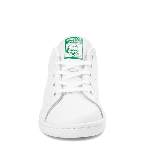 alternate image alternate view adidas Stan Smith Athletic Shoe - Little Kid - White / GreenALT4