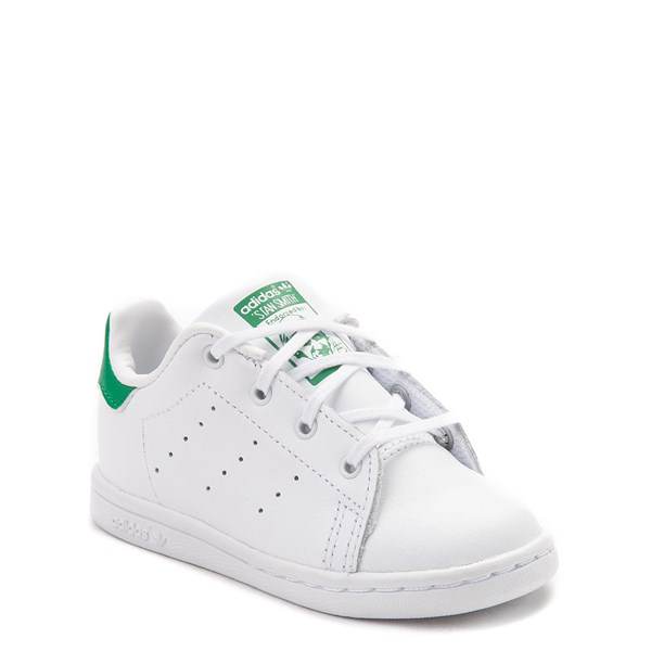 alternate image alternate view adidas Stan Smith Athletic Shoe - Baby / Toddler - White / GreenALT1