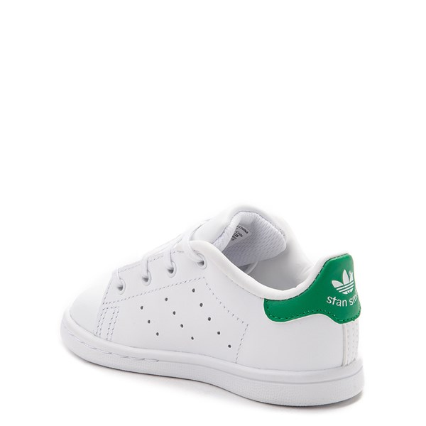 alternate image alternate view adidas Stan Smith Athletic Shoe - Baby / Toddler - White / GreenALT2