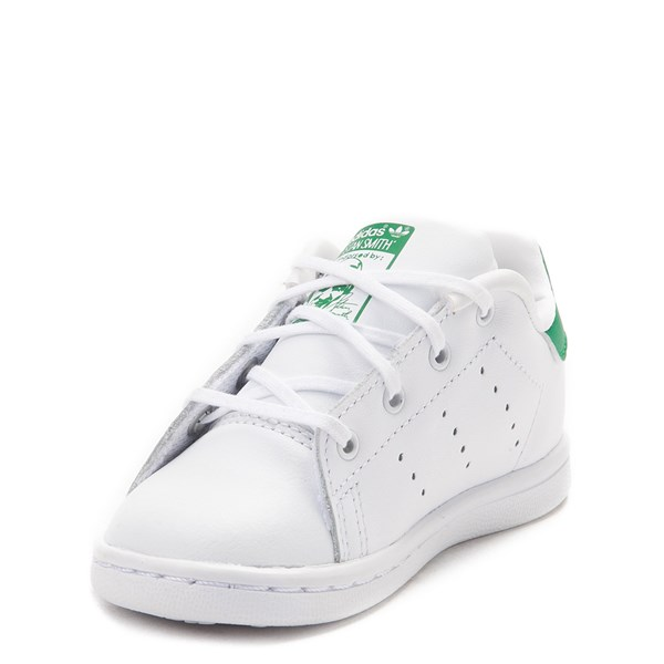 alternate image alternate view adidas Stan Smith Athletic Shoe - Baby / Toddler - White / GreenALT3