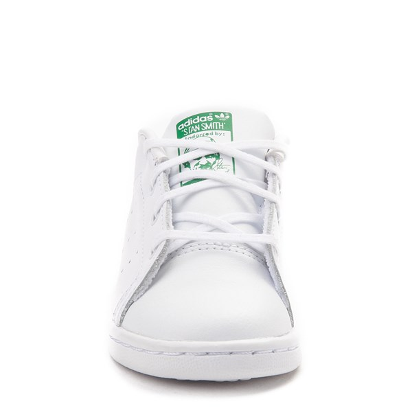alternate image alternate view adidas Stan Smith Athletic Shoe - Baby / Toddler - White / GreenALT4