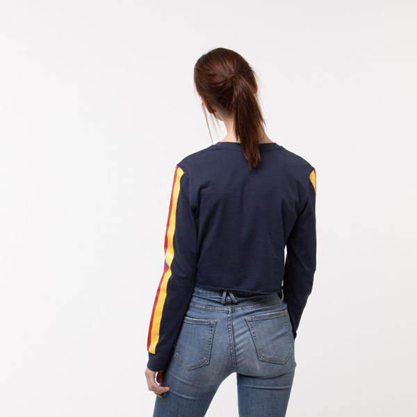 alternate image alternate view Womens Vans Rainee Cropped Long Sleeve TeeALT1