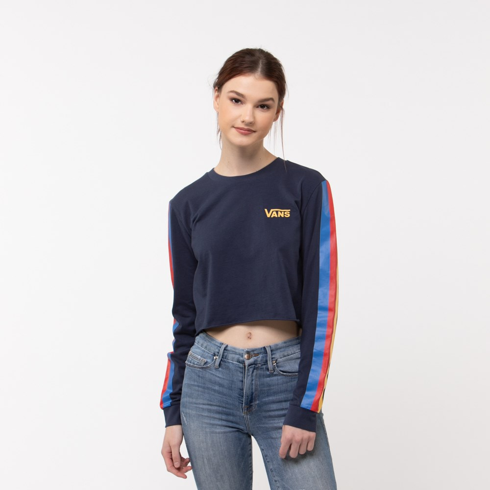 Womens Vans Rainee Cropped Long Sleeve Tee