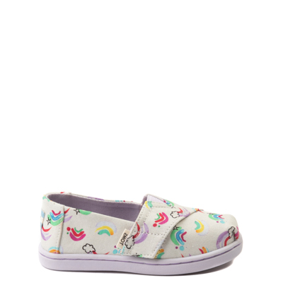 Main view of Toddler TOMS Classic Jumping Rainbow Slip on Casual Shoe