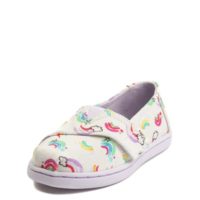 Alternate view of Toddler TOMS Classic Jumping Rainbow Slip on Casual Shoe
