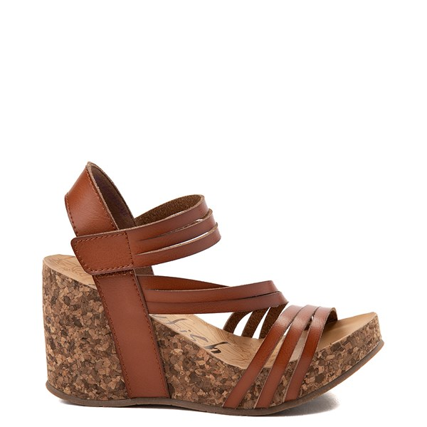 Main view of Womens Blowfish Helm Wedge - Cognac
