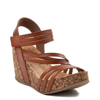 Alternate view of Womens Blowfish Helm Wedge - Cognac