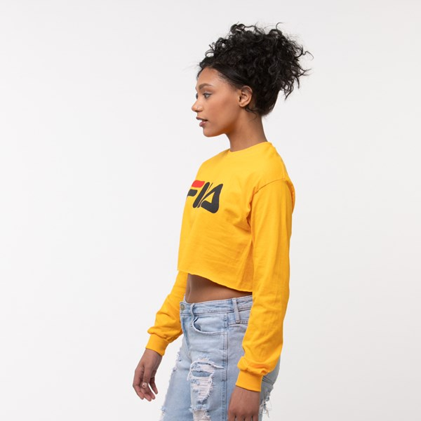 alternate image alternate view Womens Fila Cropped Long Sleeve TeeALT2
